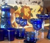 Фото в Хобби и увлечения Коллекционирование продам старинную посуду резное синее стекло в Тамбове 2000