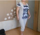 Изображение в Одежда и обувь Женская одежда костюм летний - кофта + бриджи р-р 48-50 в Чебоксарах 1200