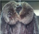 Фотография в Одежда и обувь Женская одежда Продам мутоновую шубу, цвет серый. Воротник в Смоленске 12000