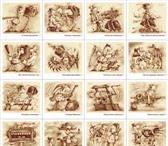 Изображение в Хобби и увлечения Коллекционирование 20 рисунков размером 14 см х 13,3 см. Плотность в Томске 1000