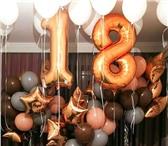 """Фотография в Развлечения и досуг Организация праздников 🎉Композиция """"цифра из фольги+20 шариков в Москве 48"""